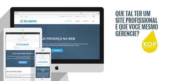 Você pode ter um site profissional, administrável e com direcionamento para o Google
