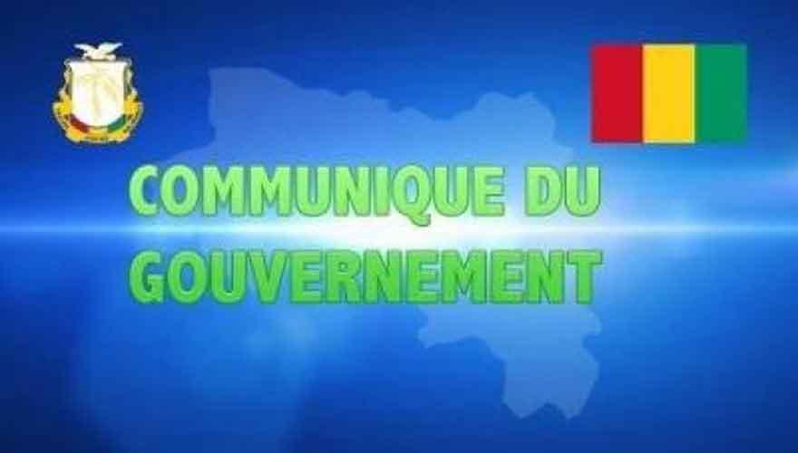 Communiqué :  Le Gouvernement lance un appel solennel pour qu'il soit mis un terme au dé...